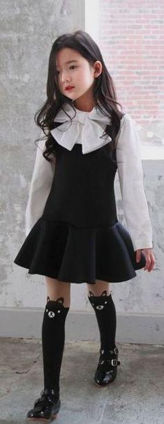 Alla Cotton Page Ribbon Dress | Girls Fashion