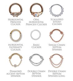 PRE-ORDER 14k gold septum clickers and rings
