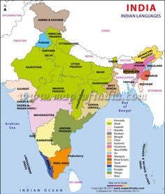 Find the list of different languages spoken in India as per the respective States and Union Territories. find a map of India showing the languages spoken by the people living in different States of India. Intercultural Communication, Learn Hindi, India Map, Indian Language, States Of India, Different Languages, World Languages, Thinking Day, Historical Maps