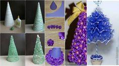 Recicla Materiales Para Elaborar Creativos Pinos Navideños Tamaño Mini