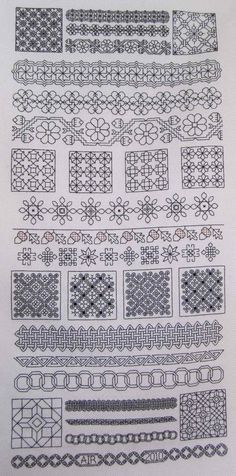 Blackwork Sampler SAL | Chanda Belle Pattern designed by Lynne Herzberg and published in The Gift of Stitching