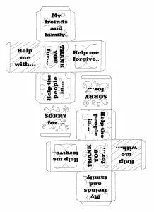 prayer cube for kids