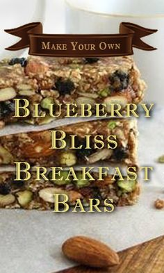 Make Your Own Blueberry Bliss Breakfast Bars