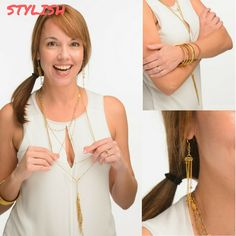 Ava Necklace, Shannon Bracelets and Lorraine Earrings - Very Stylish - Hand Made