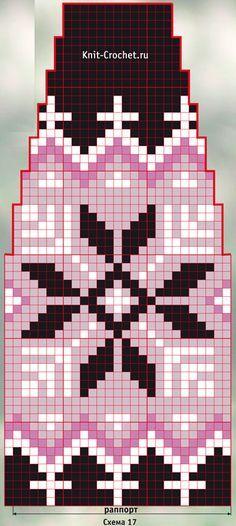 Схема для вязания спицами женской шапочки «Готика».