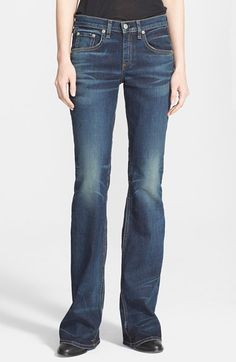 rag & bone/JEAN Bootcut Jeans (Bishop) available at #Nordstrom