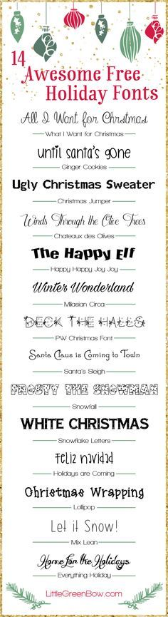 Looking for some fun Christmas fonts? Check out these 14 free holiday fonts that are guaranteed to make your Christmas cards awesome this year.