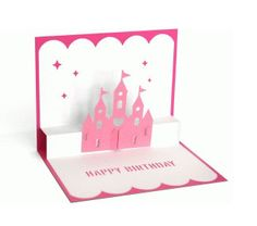 3D Pop Up Princess Castle Card  Happy Birthday  by patchandpeanut