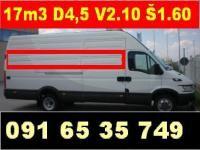 Kombi prijevoz, dimenzije prostora za prijevoz i selidbe kombi vozilom