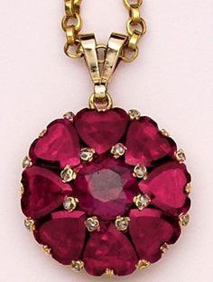 Victorian Almandine Garnet Pendant