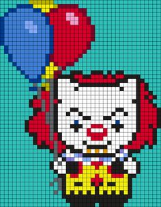 Pennywise (from It) Hello Kitty (39 X 50 Square Grid Pattern)