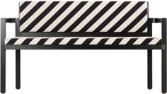 TECTA D51-2 schwarz-weiss Nussbaum-Gestell Gropius-Sitzbank Walter-Gropius front 1