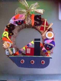 Handgemaakte Sinterklaas krans