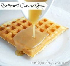 Grandma's Carmel Syrup 1 c. cream 1 c. brown sugar 1 c. white sugar Combine together in a pot over low-medium heat.  Stir slowly until sugar is melted and before it boils.  Test by tasting.  Take off heat immediately and serve with waffles or pancakes.  This recipe came from our Danish ancestors.