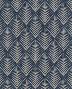 blue aztec inspired wallpaper