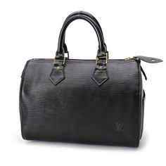 Louis Vuitton Speedy 25 Epi Handle bags Black Leather M59032