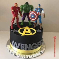 50 Most Beautiful looking Avengers Cake Design that you can make or get it made on the coming birthday. Birthday Cake Kids Boys, Avengers Birthday Cakes, 5th Birthday Cake, Superhero Birthday Cake, Marvel Cake, Superman Cakes, Avenger Cake, Cake Designs Images, Birthday Cake Decorating