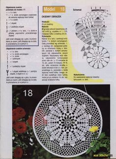 "Photo from album ""Moje robotki on Yandex. Mandala Au Crochet, Crochet Circles, Crochet Doily Patterns, Crochet Diagram, Crochet Chart, Crochet Squares, Thread Crochet, Filet Crochet, Crochet Motif"