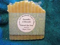 Texas T&T Home Made Lye Soap Avocado & Cucumber  6-6.5 oz Coconut Oil Olive Oil #TEXASTANDTHANDMADESOAPS