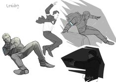Detroit become human Connor sketches By: craidvy