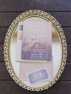 Pretty watercolor purple invitations: http://www.stylemepretty.com/california-weddings/geyserville-california/2016/01/17/french-inspired-wine-country-wedding-at-geyserville-inn/   Photography: Lori Photo - http://loriphoto.com/