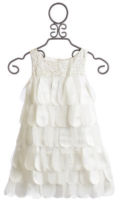 Biscotti Off White Girls Dress Petal Parfait $114.00