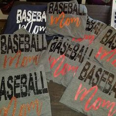 Baseball mom shirts!!