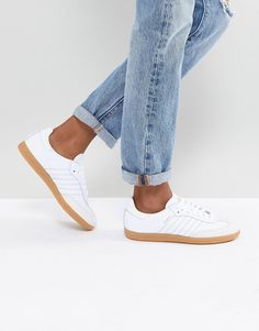 100% authentic ad881 8e82b adidas Originals  adidas Originals Samba Sneakers In Off White With Faux  Reptile Trim Adidas Samba