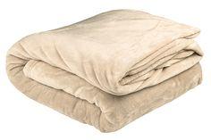 Bambury Ultraplush Single Blanket - Linen