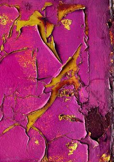 Can't decide is the outer shell or the inside is prettier....purple gold cracked texture