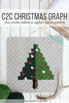 This corner to corner Christmas tree graph is the third of nine free c2c…