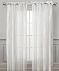 Take a look at this White Drake Curtain Panel I bought at zulily today!