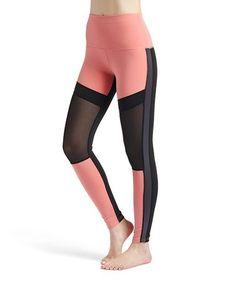 0e757691bad062 S2 Sportswear Lantana Metallic Stripe Mesh Panel Leggings - Women & Plus
