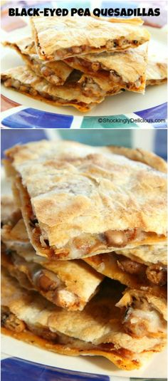 Black-eyed Pea Quesadillas: Earthy black-eyed peas join with aged cheddar and warm spices in a New Year's Day quesadilla designed to capture good luck for the coming year.