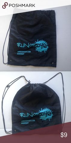 Run or Dye Drawstring Black Bag Run or Dye black draw string bag only used once. Perfect for a day hike, backpack or a gym bag! Bags Backpacks