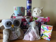 Beautiful Owl Lovers Vintage Style Gift Pamper Hamper Suitcase Mum Nana Aunt M in Home, Furniture & DIY, Celebrations & Occasions, Other Celebrations & Occasions | eBay