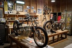 Motorcycle workshop.