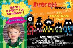 Printable YO GABBA GABBA Birthday Invitation!  Personalized.  only $7.50