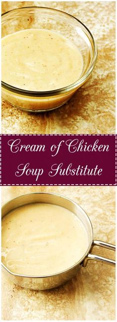 Cream of Chicken Soup Substitute is an easy way to add flavor and depth to casseroles. #soup #substitute #creamofchicken via berlyskitchen.com
