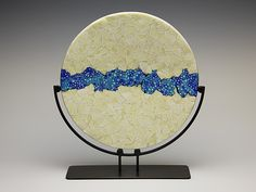 WatersEdge by Patti & Dave Hegland - (Art Glass Sculpture) Fused Glass Plates, Fused Glass Art, Glass Wall Art, Stained Glass Art, Mosaic Glass, Glass Art Design, Glass Fusing Projects, Kiln Formed Glass, Paperclay