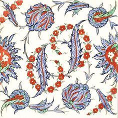 This vibrant Iznik design is another wonderful tile from our volunteer Nicholas Riley.