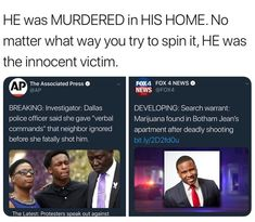 They shot him in his own home because he was black, every other discovery came afterwards and he is not ALIVE to defend himself. He was in his home where he is meant to feel safe and protected ! This is horrific , he was murdered in cold blood . Anti Racism, Pro Choice, Equal Rights, The More You Know, Faith In Humanity, Social Issues, Social Justice, Feminism, Equality