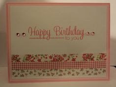 Card Corner by Candee: Pink Birthday Card