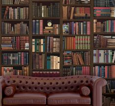 Antique Bookcase, Vintage Bookshelf, Normal Wallpaper, Book Wallpaper, Bookcase Wall, Bookshelves, Self Adhesive Wallpaper, Interior Walls, Interior Design