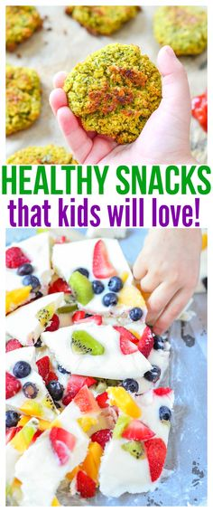 Whether you're looking for healthy snacks for kids on the go or healthy snacks for picky eaters at home, we have a ton of fun kid friendly recipes in this food round up that will definitely get praise from parents and kiddos! via @CourtneysSweets