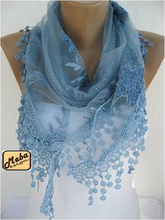 ONE SALE  Lace scarf women scarves  guipure   by MebaDesign, $12.90