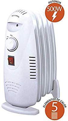 potencia de 1000 W Radiador de aceite mini Orbegozo RO 1010 C construcci/ón modular y dise/ño compacto en color blanco