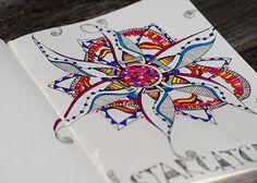 Colored with Sekura's Gelly Roll Glaze pens! Beautiful!