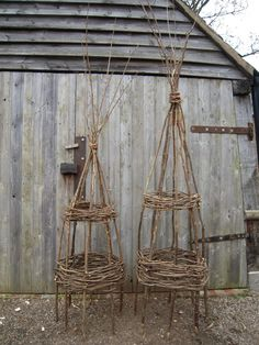 twig sculptures for a garden