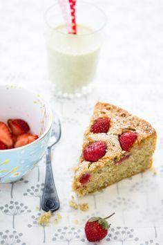 Strawberry + Pistachio Cake